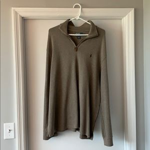 Brown/Tan Polo Quarter Zip Pull Over
